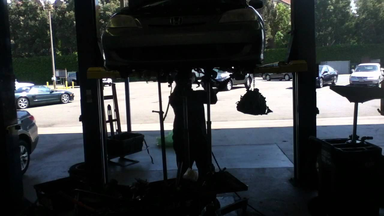 04 Civic Hybrid Transmission Removal Time Lapse