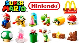 2017 McDONALD'S SUPER MARIO HAPPY MEAL TOYS FULL WORLD SET UK JPN 12 KIDS NINTENDO COLLECTION REVIEW