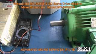 Mitsubishi MD-AX520-0.5K-06 Servo Drive Repairs @ Advanced Micro Services Pvt. Ltd,Bangalore,India