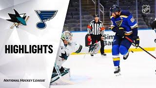 NHL Highlights | Sharks @ Blues 01/18/21
