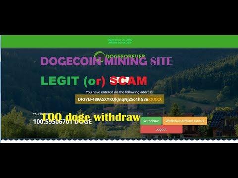 DOGECOIN MINING SITE  SCAM  Or LEGIT  Dogeforever.icu