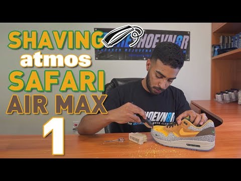 Air Max Safari 1s - Shaving Toe Box Restoration Tutorial