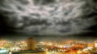 Prishtina neon sky rain