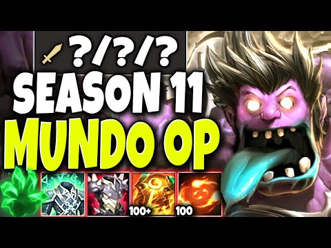 Not even 4v5 can stop our Immortal Season 11 Mundo Build 🔥 LoL Best Mundo Preseason s11 Gameplay