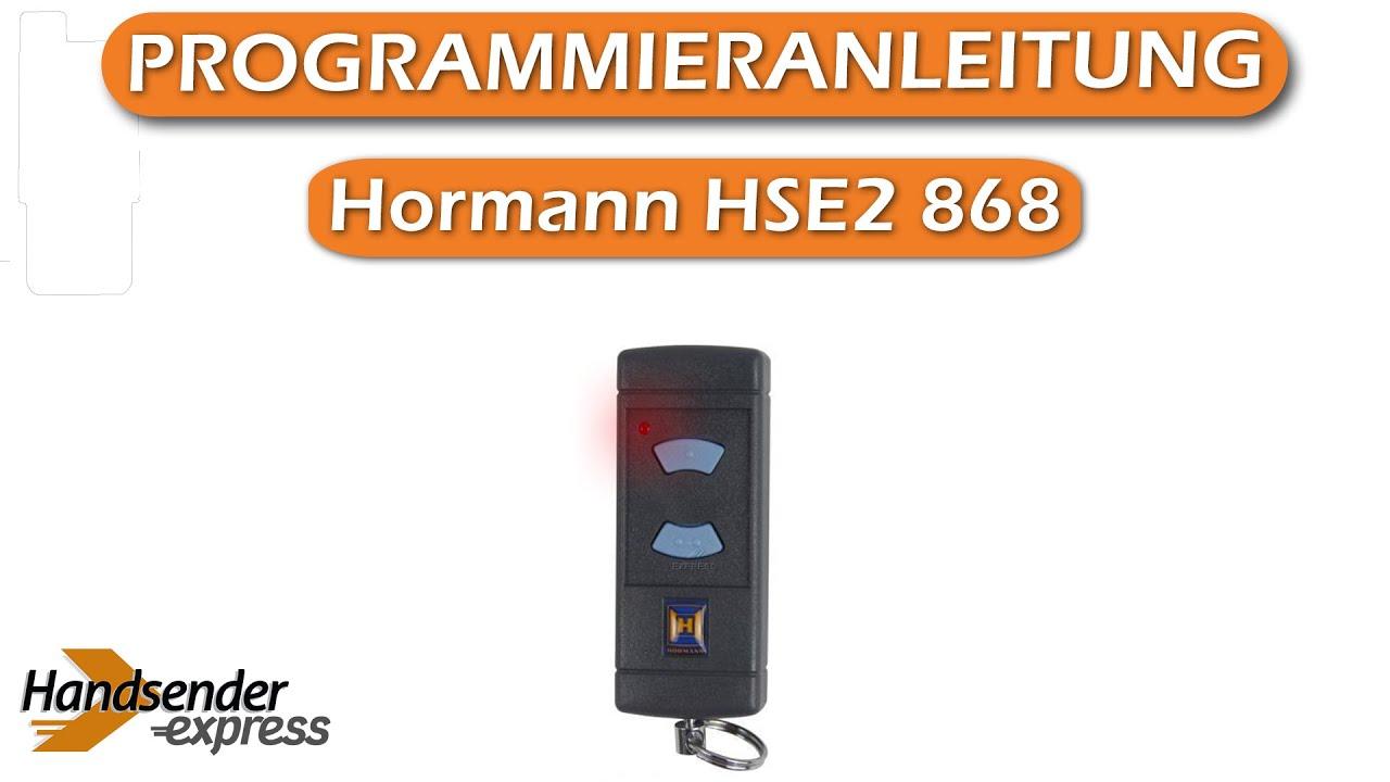 Berühmt Wie programmiert man eine Fernbedienung Hormann HSE2 868 - YouTube VR29