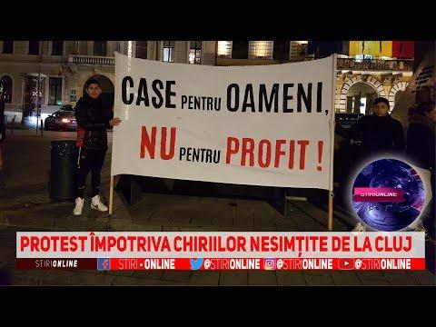 Protest împotriva Chiriilor Nesimțite De La Cluj