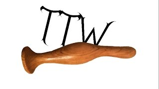 Wood Turning #114 A Short Glass Muddler