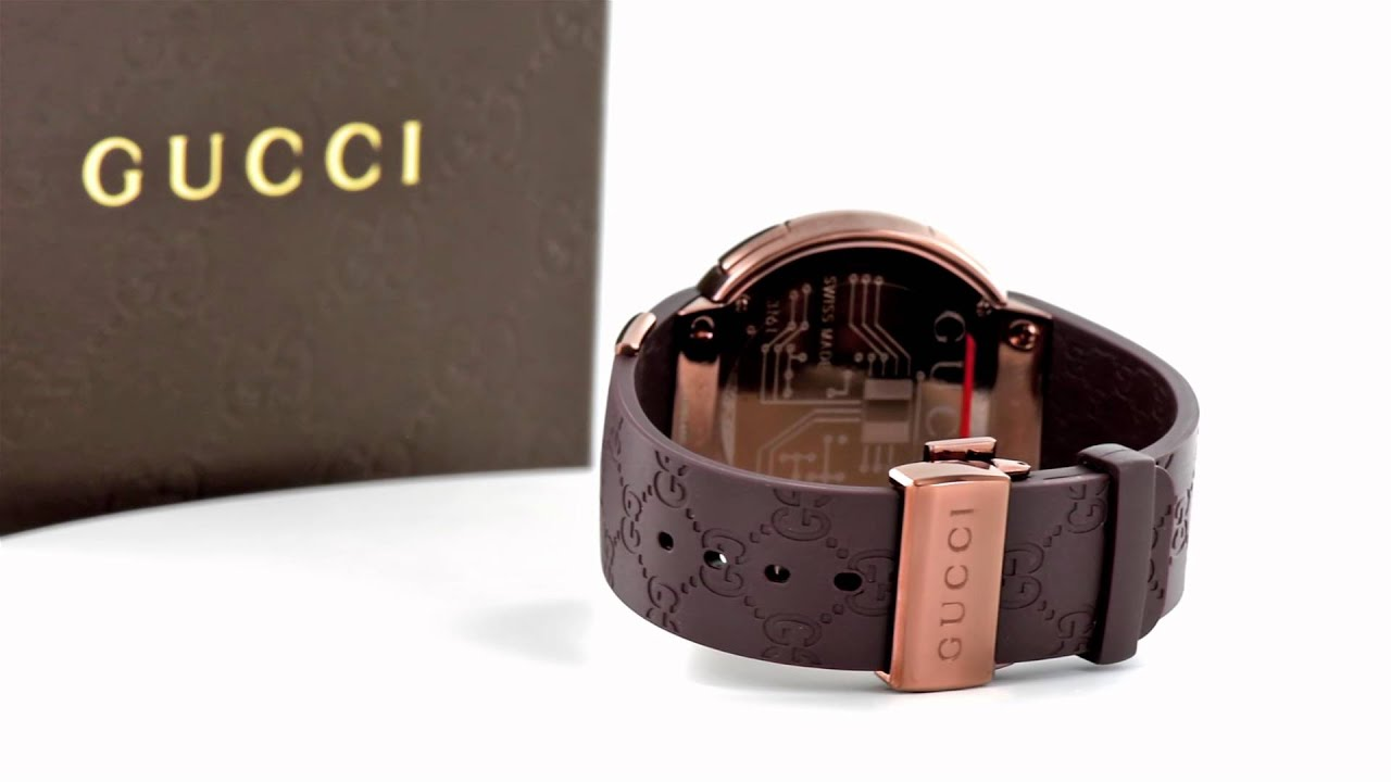 Digital Gucci Watch With Diamonds