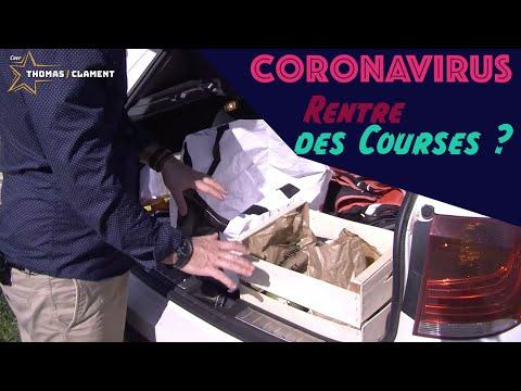 Période Coronavirus / Gestes barrières après les Courses