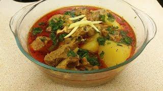 ALOO GOSHAT ( Lamb and potato Stew) Recipie, Urdu + English Subtitles [Yum,Easy,Wow,Satisfying]