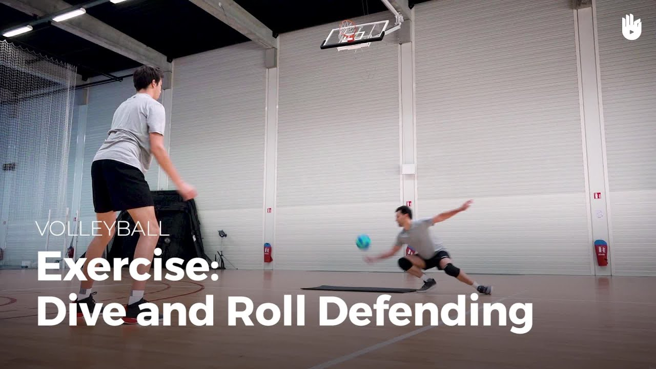 Exercise Dive And Roll Defending Volleyball Youtube