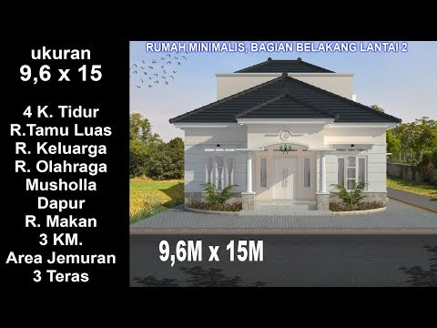 Gambar Desain Rumah Minimalis 6 X 9  modern house 9 6 x 15 4 k tidur desain rumah minimalis