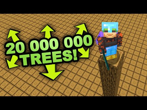 I plant 20 000 000 Trees in Minecraft (Not Creative)