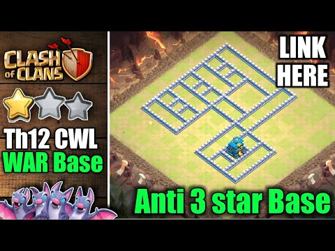 Repeat Th12   CWL War base   Best th12 war base 2019 with