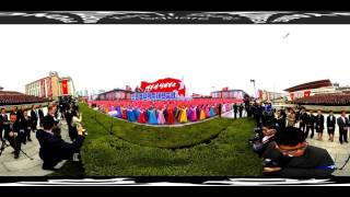 watch this massive parade in pyongyang north korea in 360º