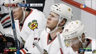 NHL 17 - Chicago Blackhawks vs Vancouver Canucks | Gameplay (HD) [1080p60FPS]