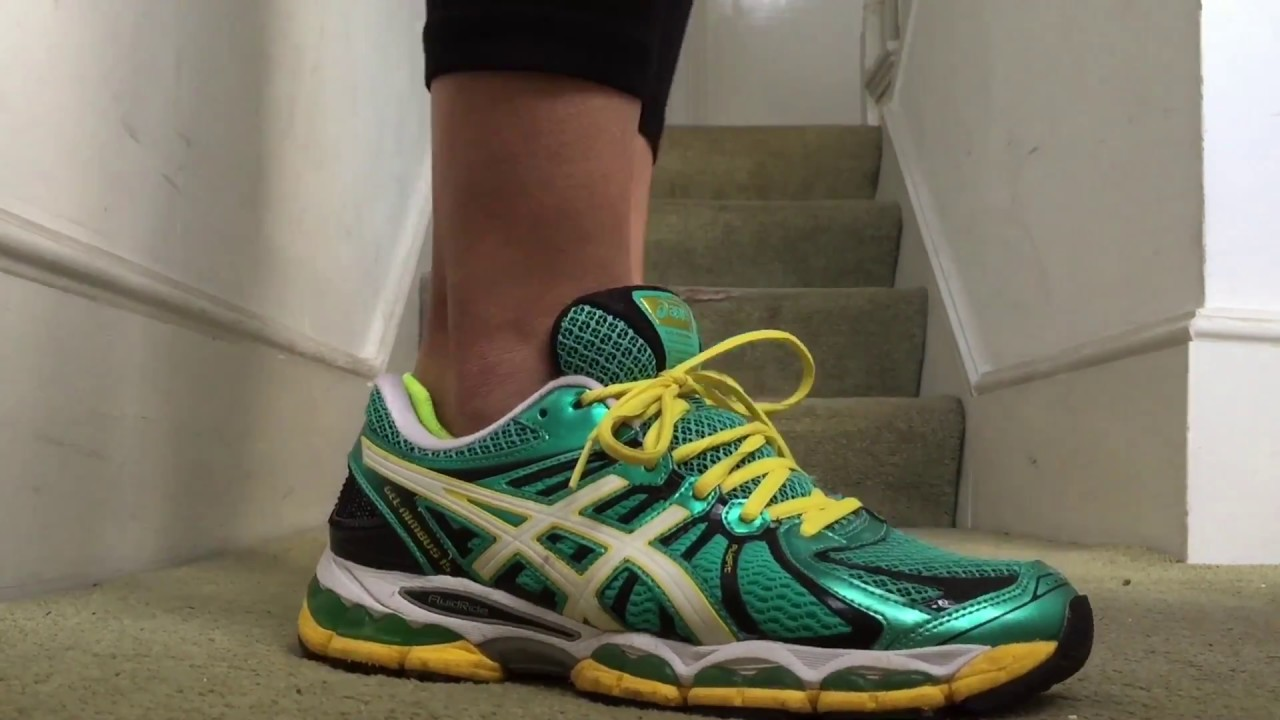Women s ASICS Gel Nimbus 15 (Green Pearl White Yellow) - YouTube 6e9d62a0d6