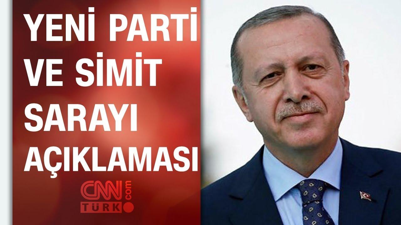 Cumhurbaşkanı Erdoğan'dan çok konuşulacak yeni parti ve Simit Sarayı açıklaması