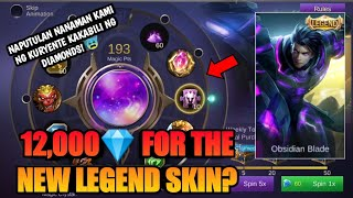 SPENDING 12,000 💎 DIAMONDS in MAGIC WHEEL FOR THE NEW LEGEND SKIN ALUCARD 🔥 in MOBILE LEGENDS 2019