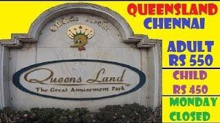QUEENSLAND AMUSEMENT PARK CHENNAI || Full Tour 2019 || 100% Covered