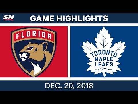 NHL Highlights | Panthers vs. Maple Leafs - Dec 20, 2018