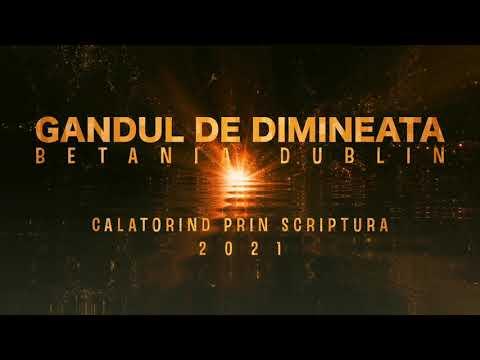 Gandul de dimineata - Exod 13 - JOI - 15.04.2021 - Calatorind prin Scriptura - Betania Dublin