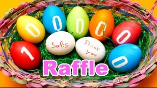 1 million subscriber raffle diy easter egg coloring video