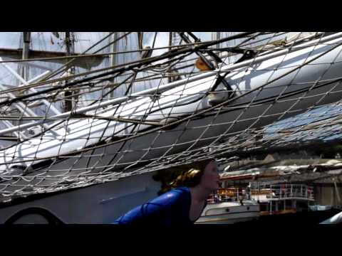 Orkney tall ships Christian Radich berths at Stromness