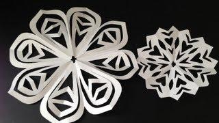 DIY hand cut paper snowflakes/ paper doilies - Natalie's Creations