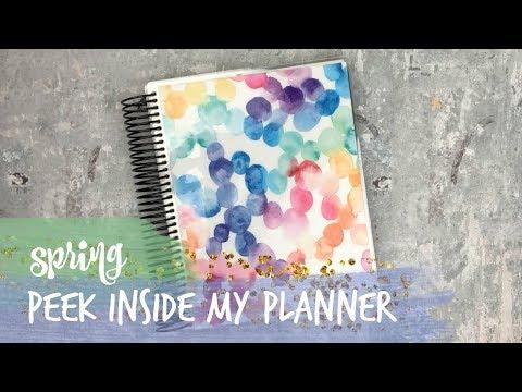 spring 2018 peek inside my planner! • ec hourly
