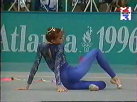 Eva Serrano ribbon 1996 Olympics