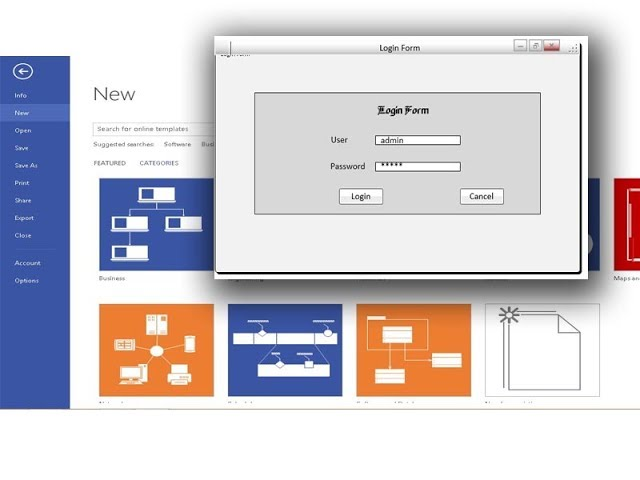 Below, you can download the guuui web prototyping tool. How To Desain Login Interface Menu Using Wireframe Diagram Visio 2013 Youtube