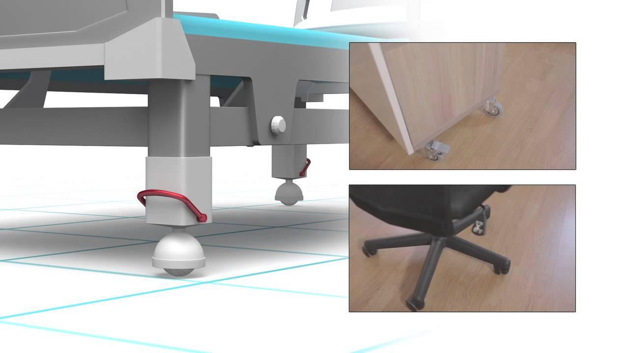 Rueda para mobiliario peasdo y ligero youtube - Ruedas para mobiliario ...