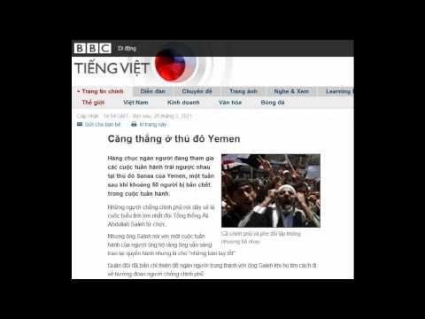 25-03-2011 - BBC Vietnamese - Căng thẳng ở thủ đô Yemen
