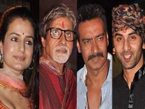 Aishwarya, Ranbir, Ajay @ Sanjay Dutt's Mata Ki Chowki