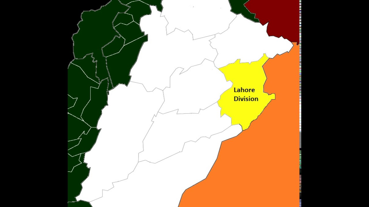 Lahore World Map.Map Of Post 2008 Lahore Division Youtube