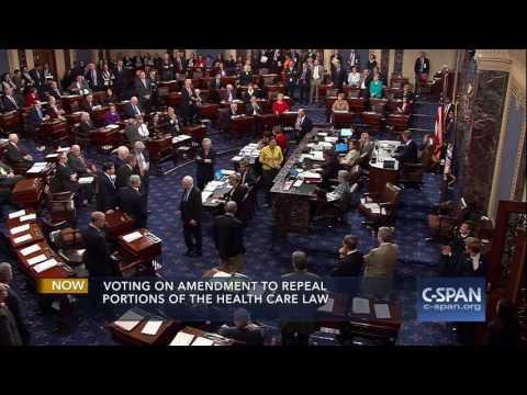 """Senator John McCain votes NO on """"Skinny Repeal"""" (C-SPAN)"""