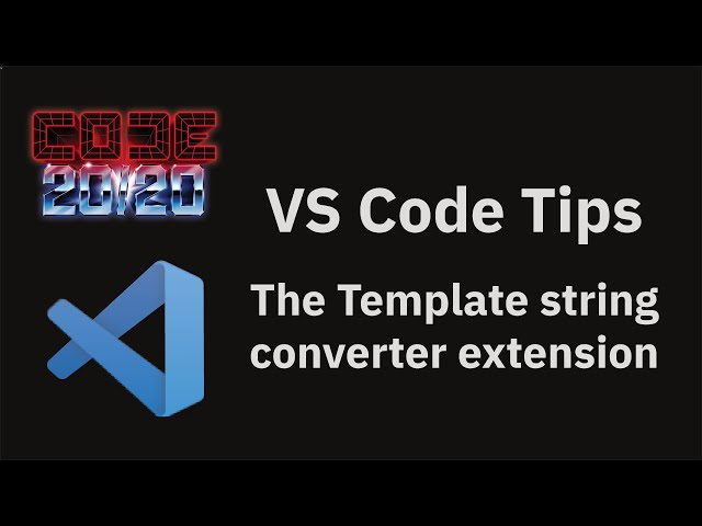 The Template string converter extension