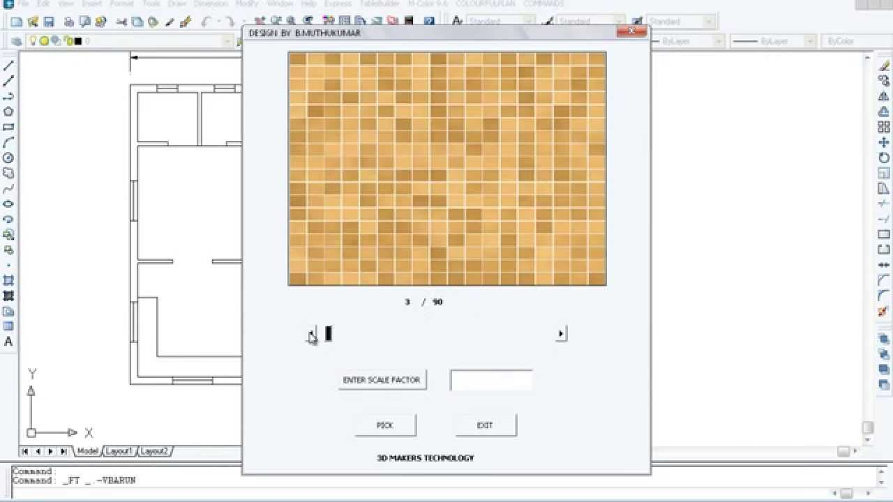 Floor Tile Using Autocad Youtube