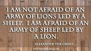 A NATION OF LIONS RULED BY A SHEEP
