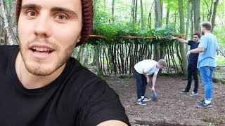 We All Built A Hut & Slept In The Woods!