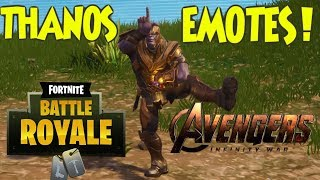Fortnite BR - Thanos Doing Emotes/Dances! (Marvel Skin)