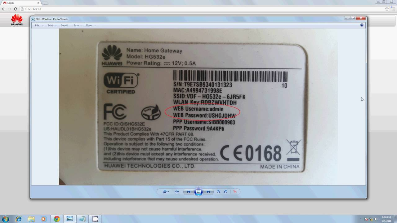 How to configure Vodafone Broadband Router Huawei HG532e/s