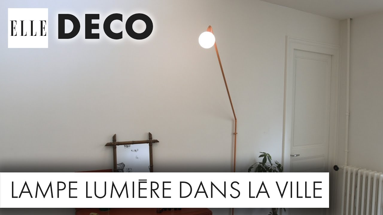 diy d co un luminaire canon avec des tuyaux en cuivre elle d co youtube. Black Bedroom Furniture Sets. Home Design Ideas