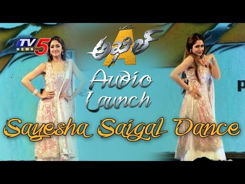 Sayesha Saigal Amazing Dance Performance At Akhil Audio Launch | Akhil Akkineni | TV5 News