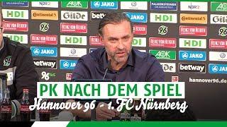 PK nach dem Spiel | Hannover 96 - 1. FC Nürnberg