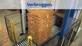 Palletizing | Automatic Palletizer machine VPM-14 by Verbruggen | Palletizing of bags