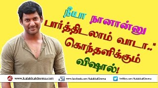 Vishal open challenge to those who indulge in Piracy