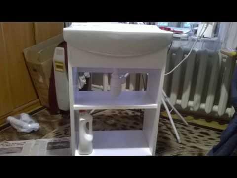 Шкафчик с зеркалом  и тумба под умывальник в ванную комнату Ч 2