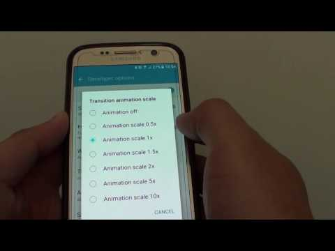 Samsung Galaxy S7:  How to Change Transition Animation Scale